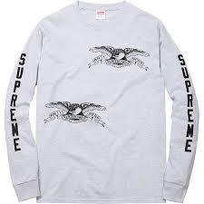 Supreme Anti Hero Long Sleeve Tee Grey