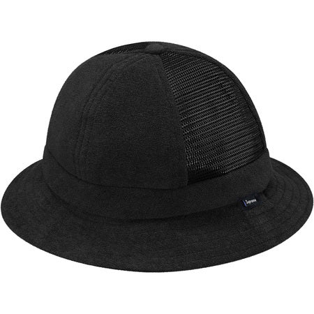 Supreme Terry Side Mesh Bell Hat Black S/M