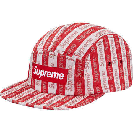Supreme Jacquard Logo Camp Cap Red