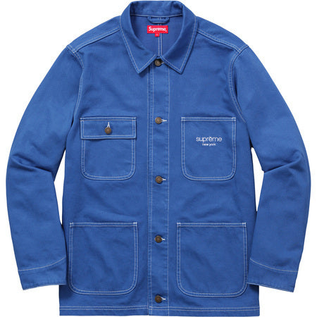 Supreme Denim Chore Coat Royal