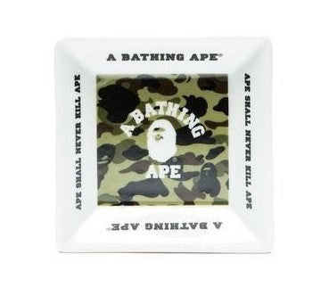 A Bathing Ape 1st Camo College Ashtray Green And White