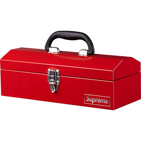 Supreme Metal Tool Box Red