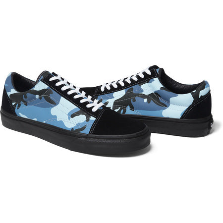 Supreme / Vans Camo Old Skool Sky Blue Size 9