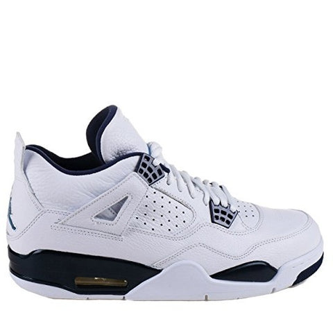 Air Jordan 4 Retro LS White / Legend Blue-Midnight Navy Size 10