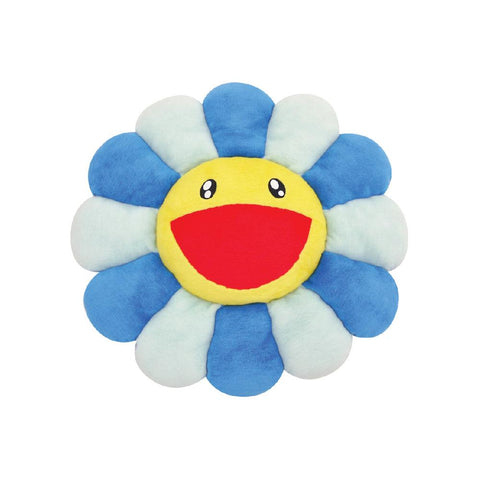 TAKASHI MURAKAMI FLOWER PLUSH CUSHION (BLUE) 24 INCH