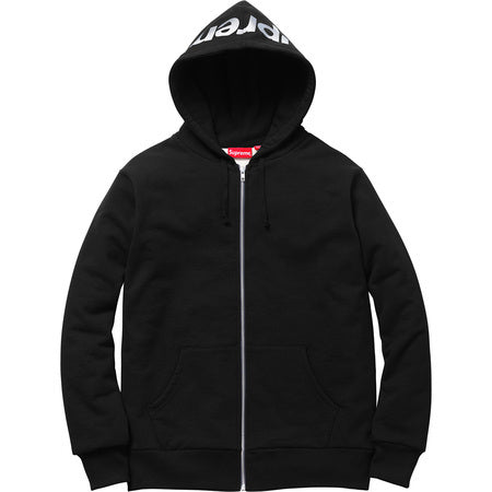 Supreme 3M Reflective Logo Thermal Zip Up Black
