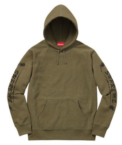 Supreme Rose Hooded Sweatshirt Olive