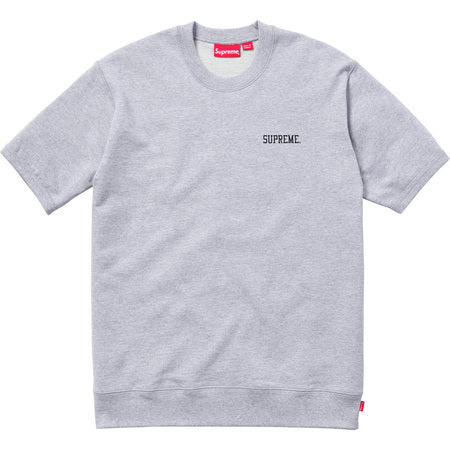 Supreme Short Sleeve Logo Crewneck Grey