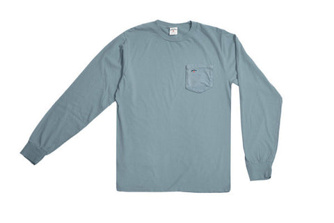 Noah NYC Pocket Long Sleeve Tee Light Blue