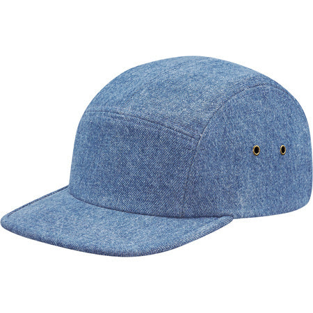 Supreme Denim Skate Logo Camp Cap Blue