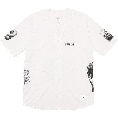 Supreme M.C. Escher Cotton Baseball Jersey White