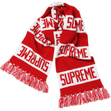 Supreme Bar Stripe Scarf Red