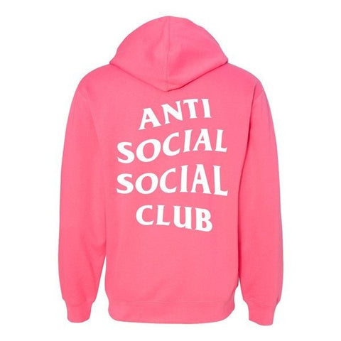 Anti Social Social Club YOU GO AS I COME HOODIE NEON PINK