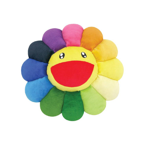 TAKASHI MURAKAMI FLOWER PLUSH CUSHION (RAINBOW) 12 INCH