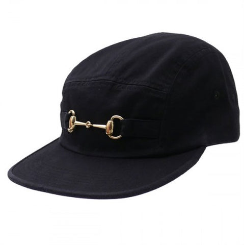 Supreme Horsebit Cap Black