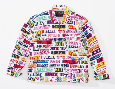 Supreme x Hysteric Glamour Text Jacket