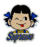 Supreme Milky Girl Blue Sticker