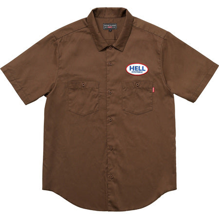 Supreme x Hysteric Glamour Work Shirt Brown