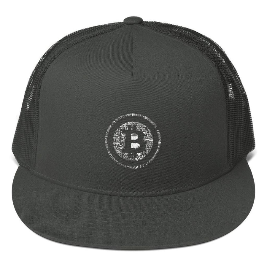 Bitcoin Mesh Back Snapback Hat