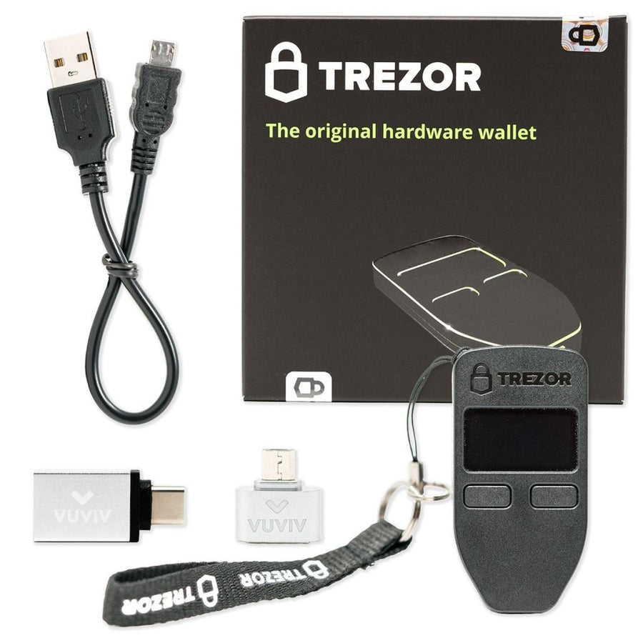 Trezor (Black) Adapter Bundle Hardware Wallet
