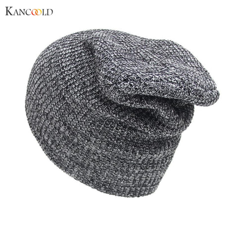2017 Men Unisex Womens Cap Knitting Hats Snow Caps Casual Crochet Beanies Caps Leisure Warm Hat Women Winter Knit Hip Hop Male J
