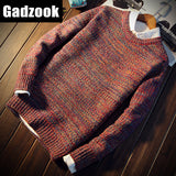 2017 autumn men's long sleeves round neck sweater tide men's self-cultivation spring and autumn youth sweater