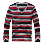 MYTL New arrival 2016 men's long-sleeved cotton stripes sweater fashion and hot pullover men brand new of