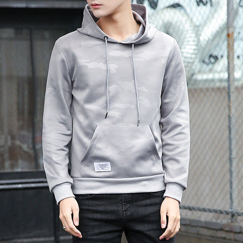 New Fashion Winter Warm Men Camouflage Print Long Sleeve Hoodie Warm Hooded Sweatshirt Outwear Slim Tops Stylish Mens Hoodies