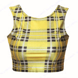 Womens Tartan Cropped Top