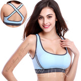 Women Gym Sports Tank Tops Sleeveless Yoga Push Up Padded Zipper Bra For Training Running Fitness Clothes Quick Dry Femme
