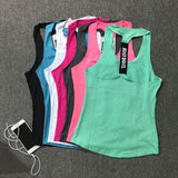 Women Sport Tank Top  Running Training Gym Tank Regata Feminina Women Fitness Blusa Sleeveless Shirt Ropa Deportiva Mujer  P067