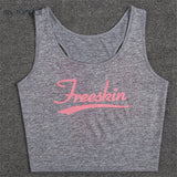 Women Sports Mesh Breathable No Sleeve Yoga Shirt Fitness Gym Running Training Short Style Undershirt Crop Tops