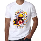 edm Printed Mens T Shirt Graphic EDM House Music Festival Ibiza Electro short sleeve white t Shirt Tee Shirt for men