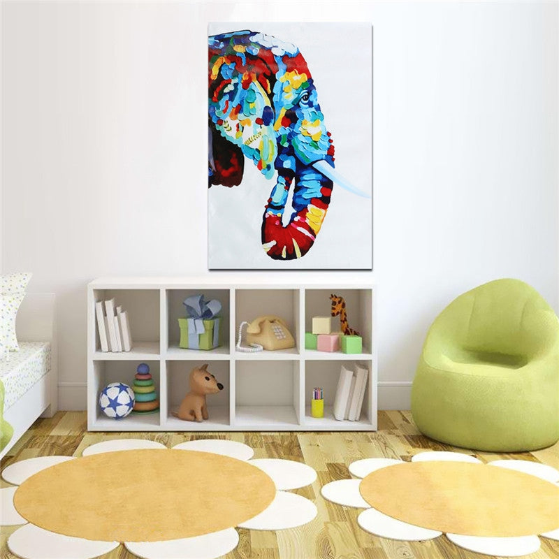 NEW Novel Unframed Canvas Elephant Prints Modern Home Kids Room Decor Wall Art Painting Picture Artwork For Bedroom Living Room
