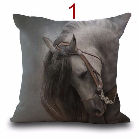 New Arrival Cushion Cover horse Pillow Case Sofa Cushion Cover Home Decorative Pillowcase car-covers Drop Shipping