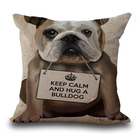 Bullfight Dog Pillows