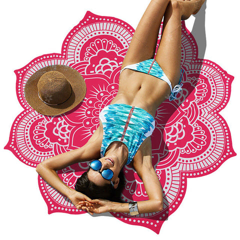 Indian Bohemian Mandalas Tablecloth, Totem Lotus Wall Hanging, Sandy Beach Towels Yoga Mat