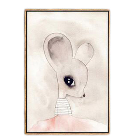 Fashion Nordic Duvar Tablolar Rabbit Girl Canvas Art Wall Art Canvas Painting Wall Pictures For Living Room No Poster Frame