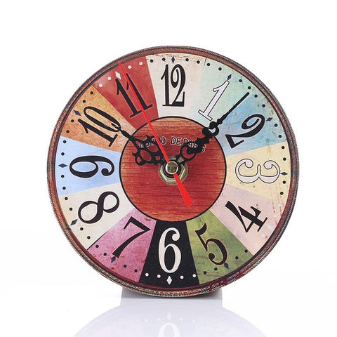 Wall Clock Imitation Round Wood Retro Number Round Clocks Home Decorate Watch For Living Room Bedroom Off E2S
