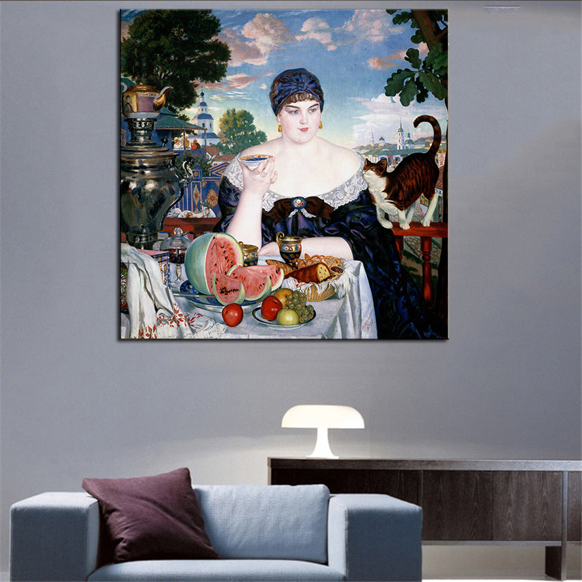 Merchant's Wife Original Canvas Print for Wall Decor