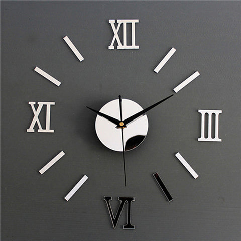 Luxury Large DIY 3D Wall Clock Living Room Home Decoration Mirror Art Design