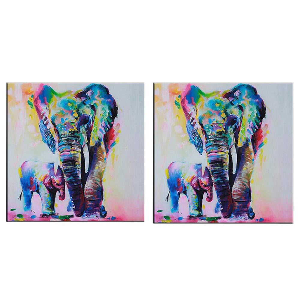 New Watercolor Elephant Inkjet Frameless Canvas Art Paintings Oil Colorful Modern Abstract Painting Artwork Painted Wall Decor