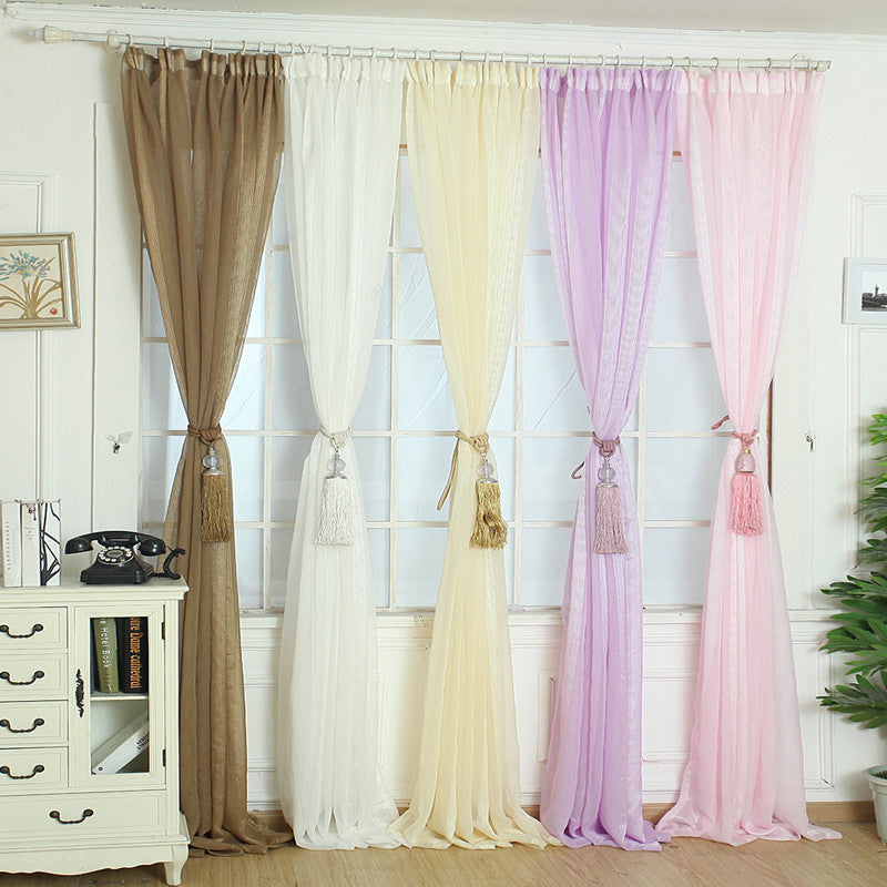 Elegant Tulle Door Window Curtain Drape Panel Sheer Scarf Valances XT
