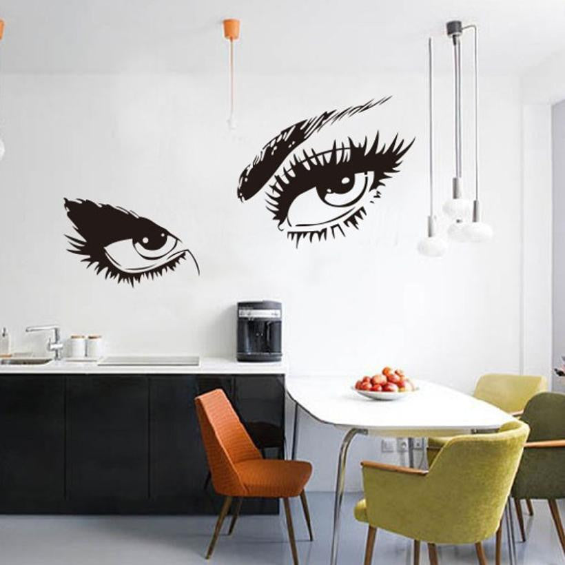 Stickers Audrey Hepburn's Eyes Silhouette Wall Sticker Decals Home Decor wall stickers