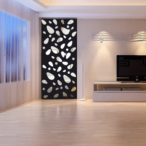 3D Mirror Wall Stickers Home Decor Mural Decal