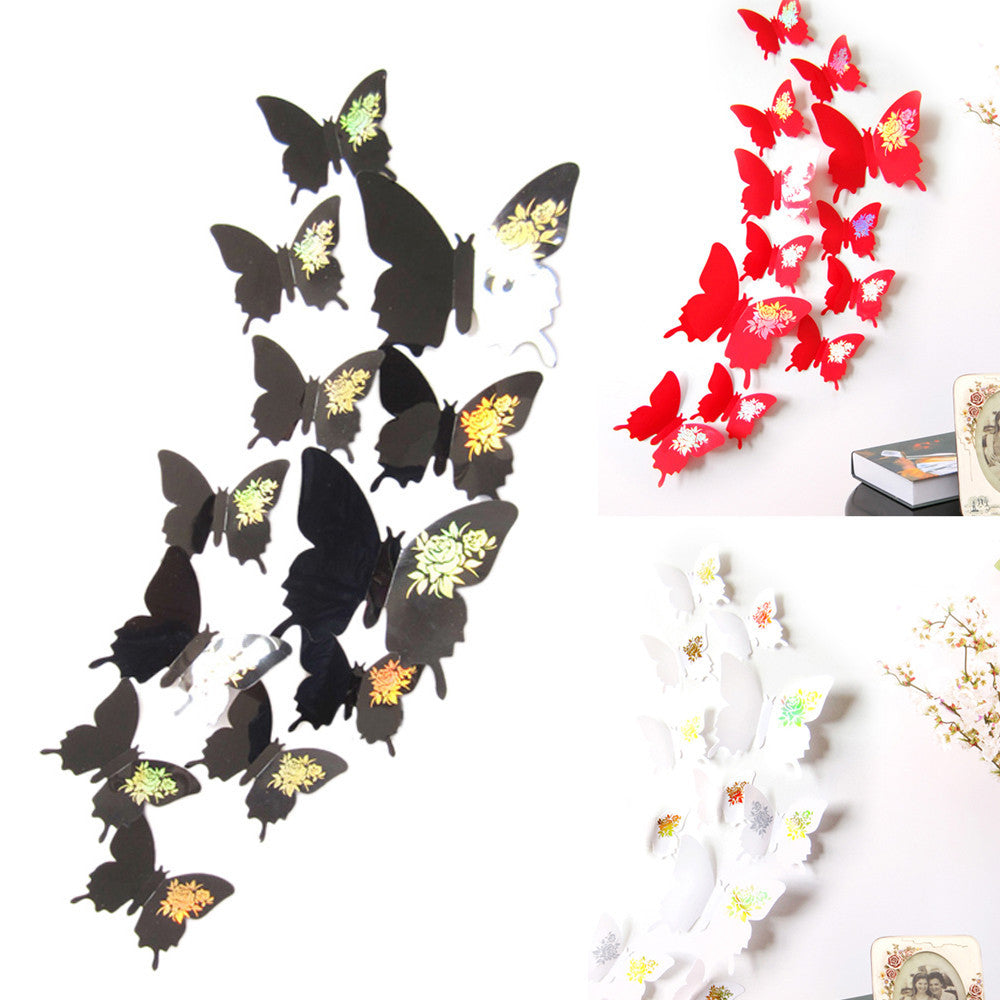 Wall Stickers Decal Butterflies 3D Wall Art Home Decors
