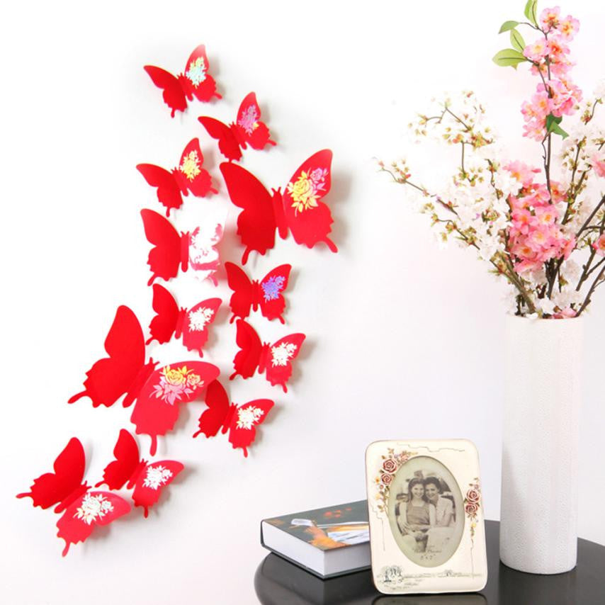 Butterflies 3D Wall Art Home Decors Wall Stickers