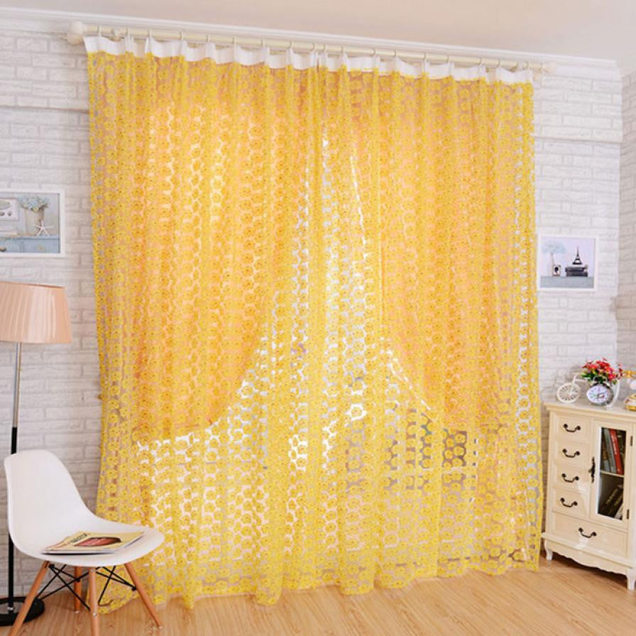 Curtains for Living Room Tulle Window Screens Door Balcony Curtain Panel Sheer 200X100cm