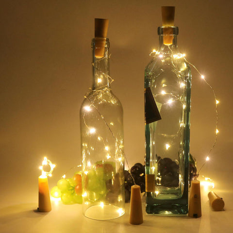 10 LED Copper Wire String Light with Bottle Stopper for Glass Craft Bottle Fairy Valentines Wedding Decoration Lamp Party 45cm