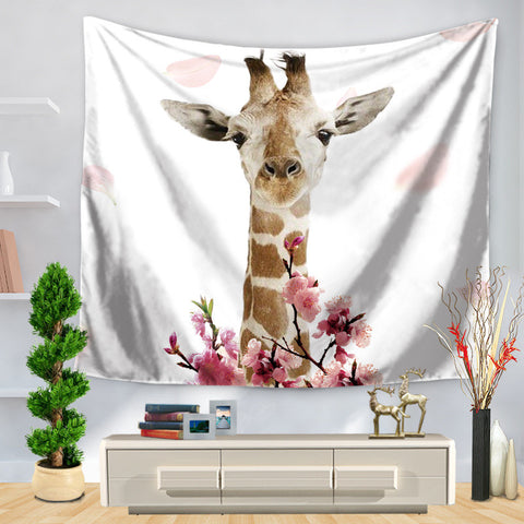 Tapestry Hand Fine Horse Giraffe Printing Hanging, Decoration Sit Carpet